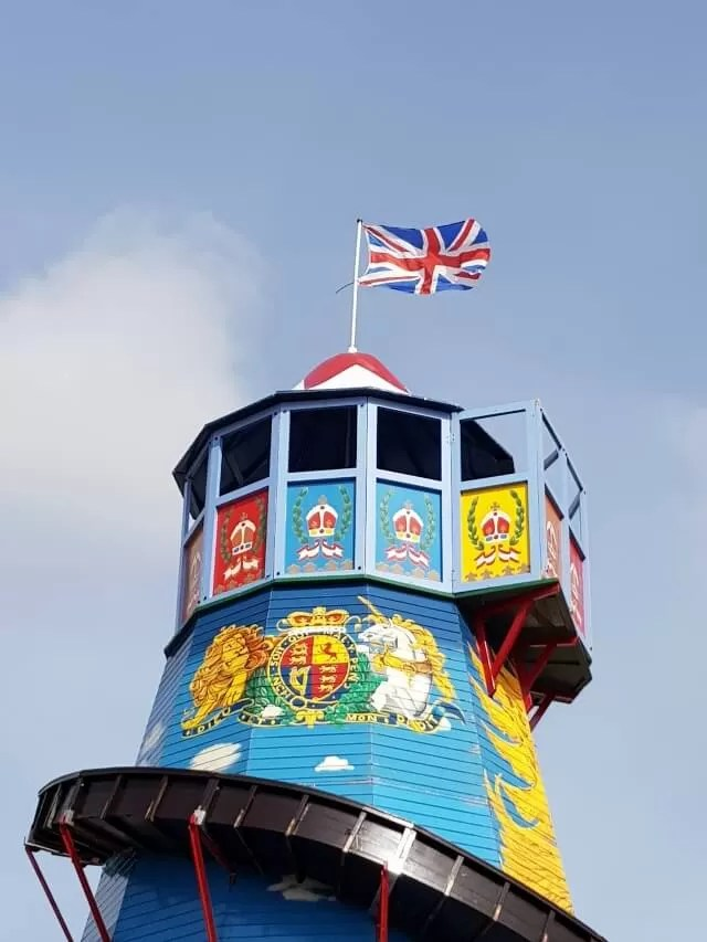 colourful helter skelter at countryfile live