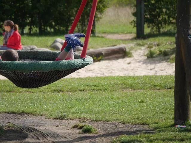 into the swing net