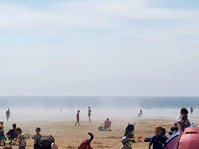 sea mist at caswell bay beach