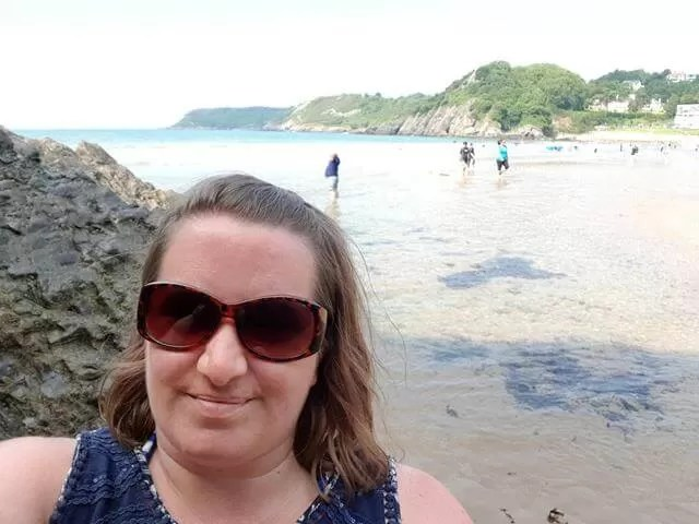 selfie at caswell bay