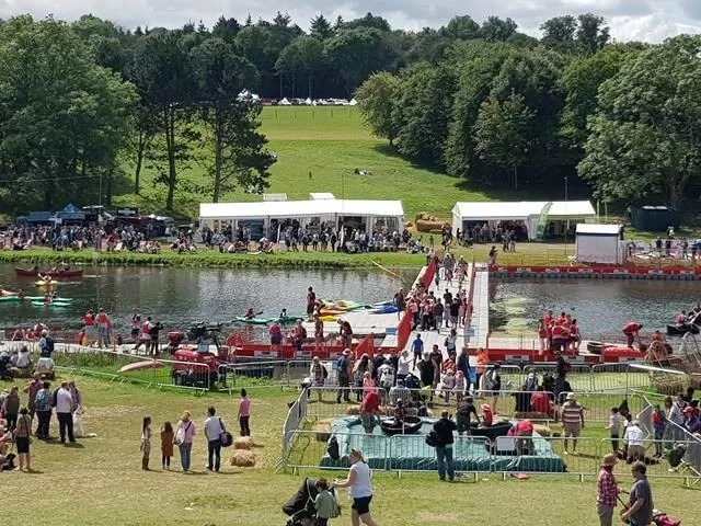 view over the water activities at blenheim