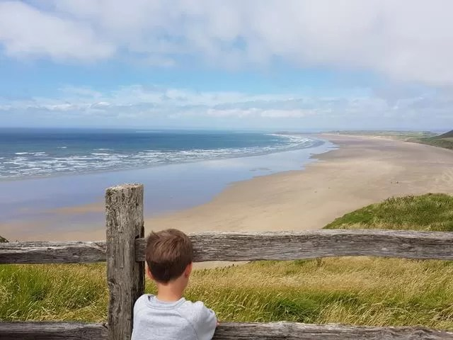 watching over rhossili bay