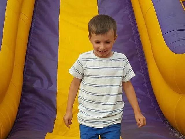 bouncy slide at southsea funfair