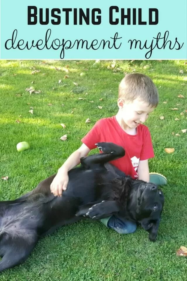 busting child development myths - Bubbablue and me