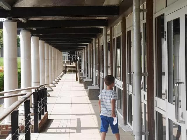 corridor at fishbourne roman palace
