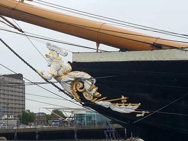figurehead on HMS warrior