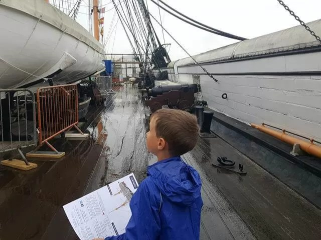 on deck on HMS warrior