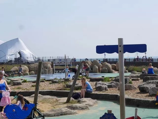 playground at blue reef aquarium southsea