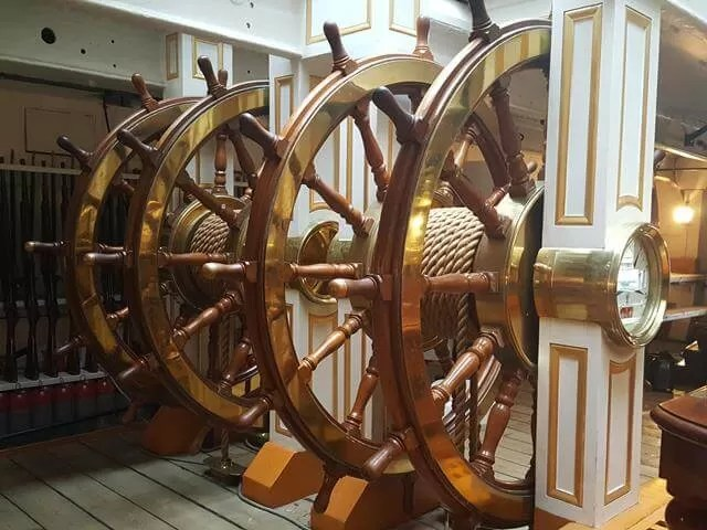 wheels in the HMS warrior