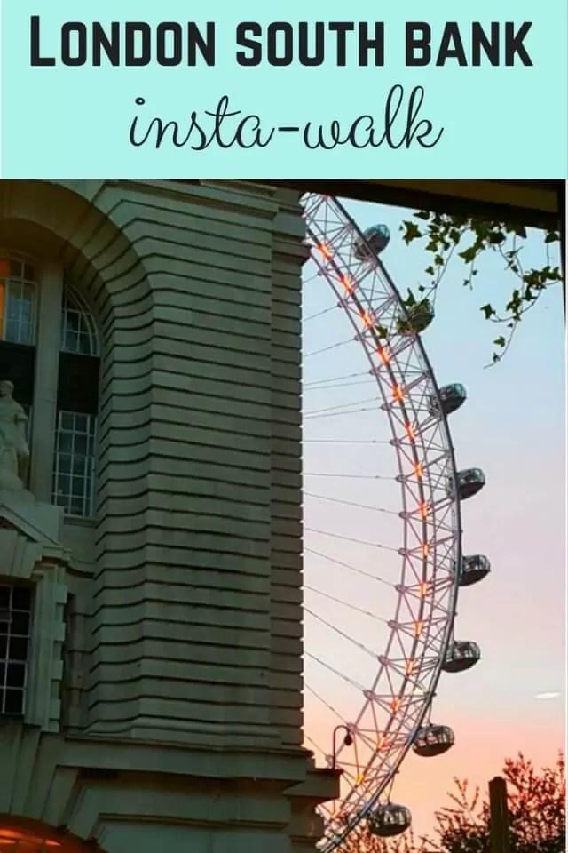 London southbank insta-walk - Bubbablue and me