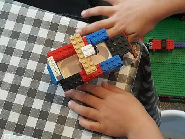 making creations at lego cafe