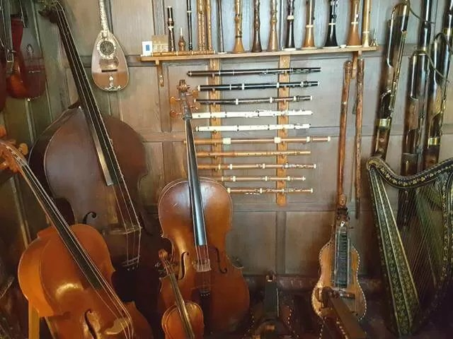 musical instruments collection at snowshill manor