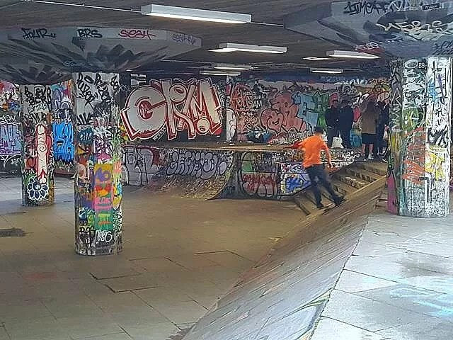 skateboarder in south bank
