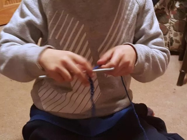 learning to crochet