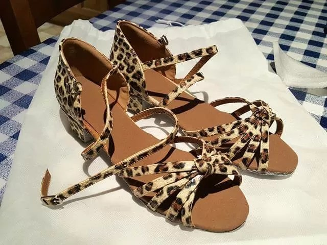 animal print dance shoes