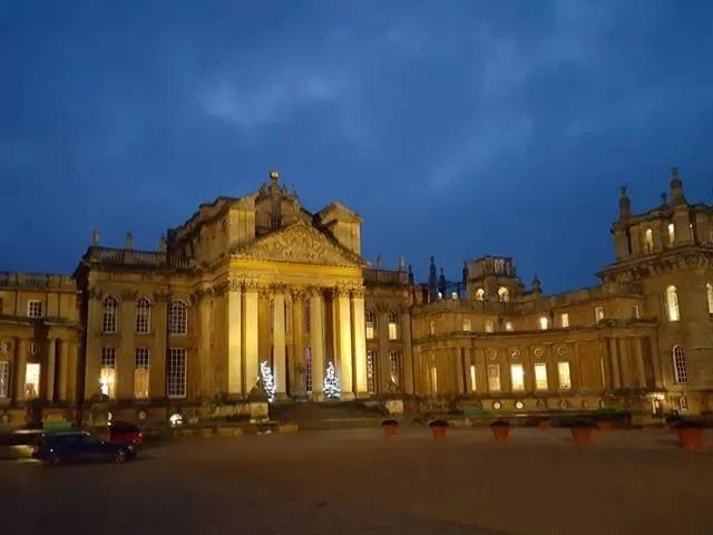Blenheim Palace at dusk