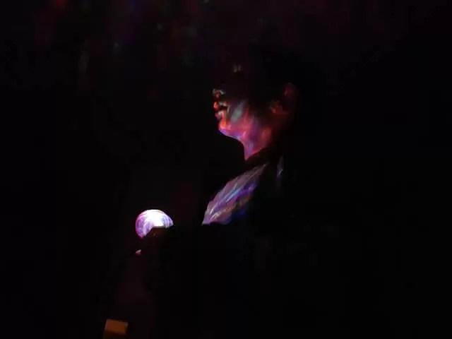 My Sunday Photo - disco ball lit up face
