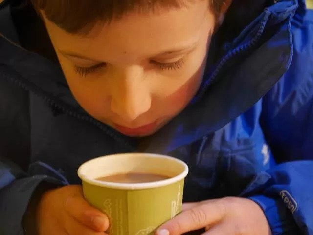 hot chocolate in wigwam cafe