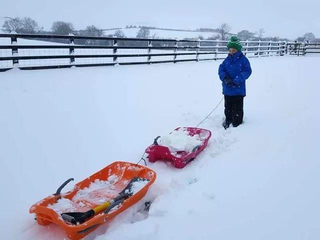 pulling sledges