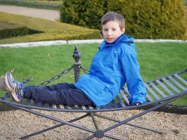 relaxing on the terrace at wadesdon
