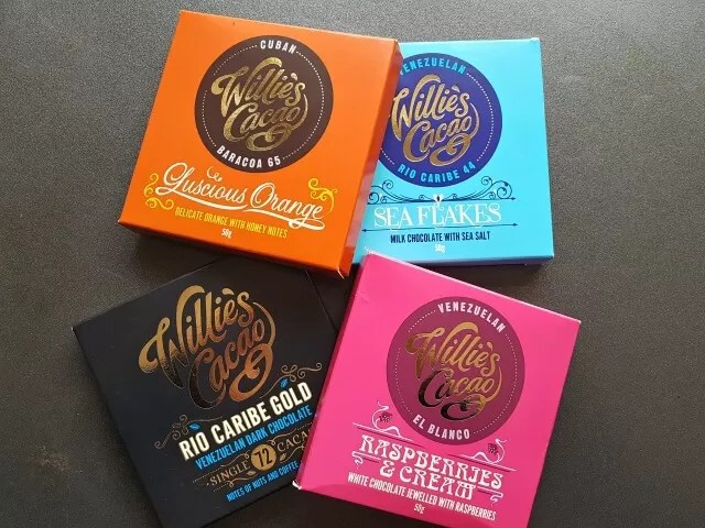4 boxes of luxury chocolate