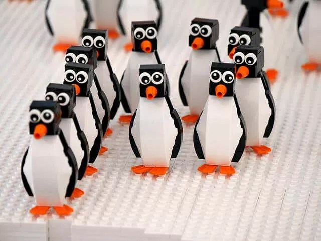 lego penguins at marwell zoo