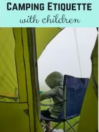 camping etiquette with kids