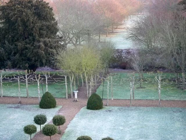 gardens at Chicheley Hall