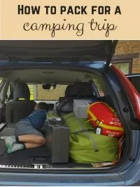 pack for camping trip