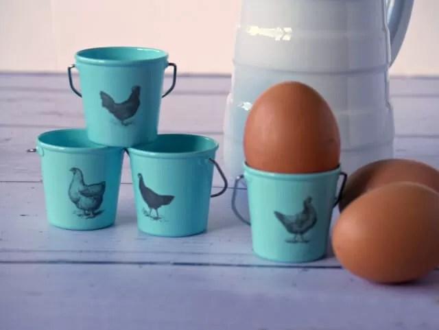 blue egg pails