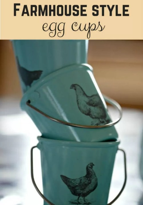 vintage farmhouse style egg cups - Bubbablue and me