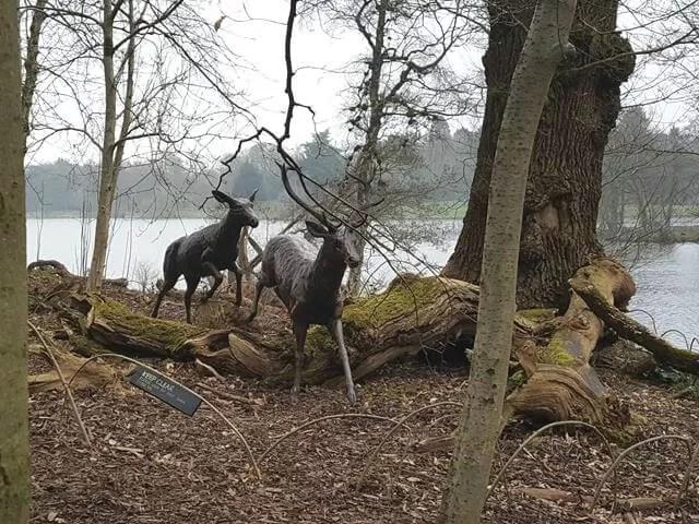 deer sculptures in Trentham