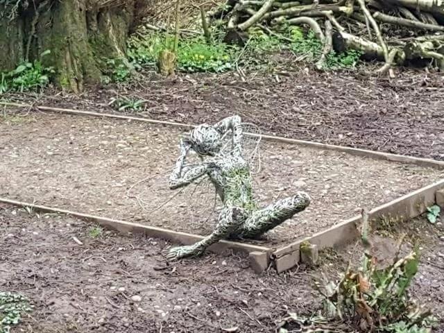 reclining fairy sculpture at trentham gardens