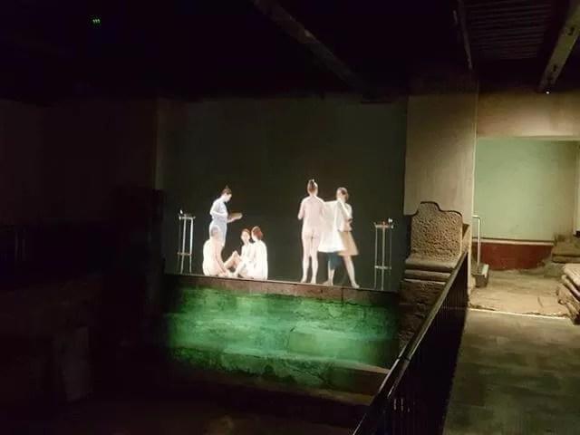 film in the roman baths