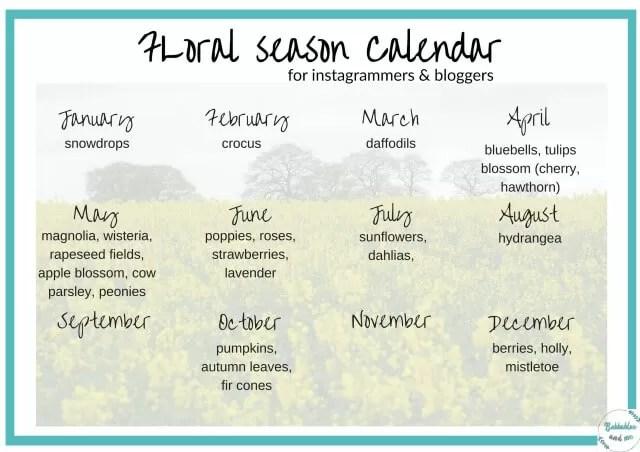 floral calendar printable jpg