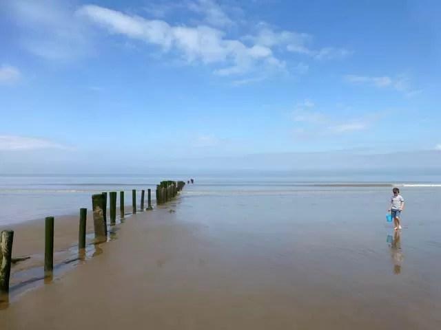 groynes at berrow beach
