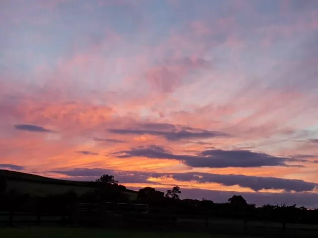 pink and lilac sunset