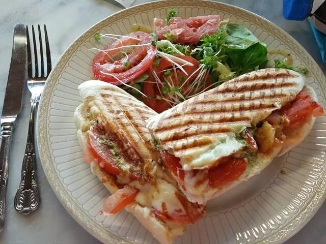 tomato and mozzarella panini victoria park