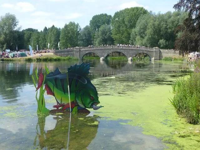 bridge over the river at blenheim