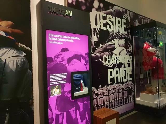 displays at football museum