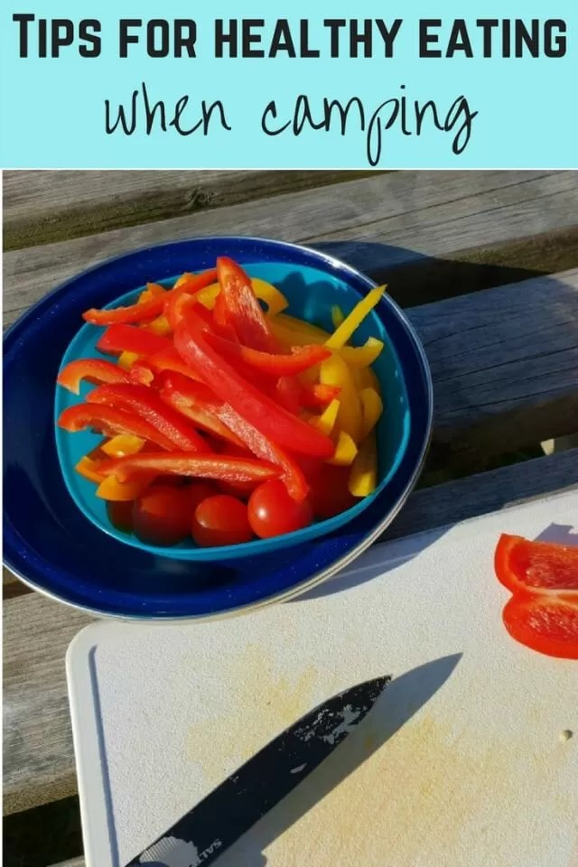 healthy eating when camping - Bubbablue and me