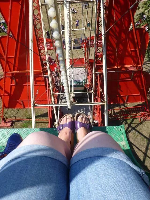 looking down on the big wheel