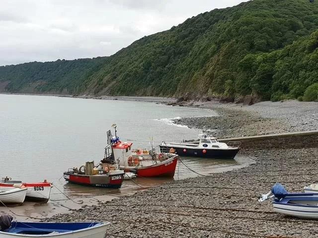 boats at clovelly