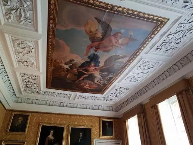 ceiling at hanbury hall