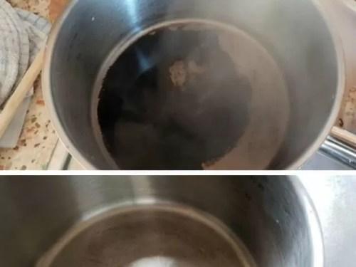 clean burnt milk pan - Bubbablue and me
