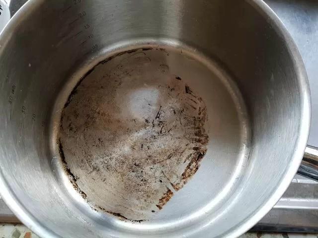 cleaned pan