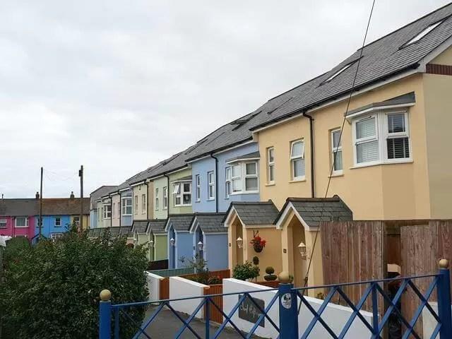 colourful houses westward ho!