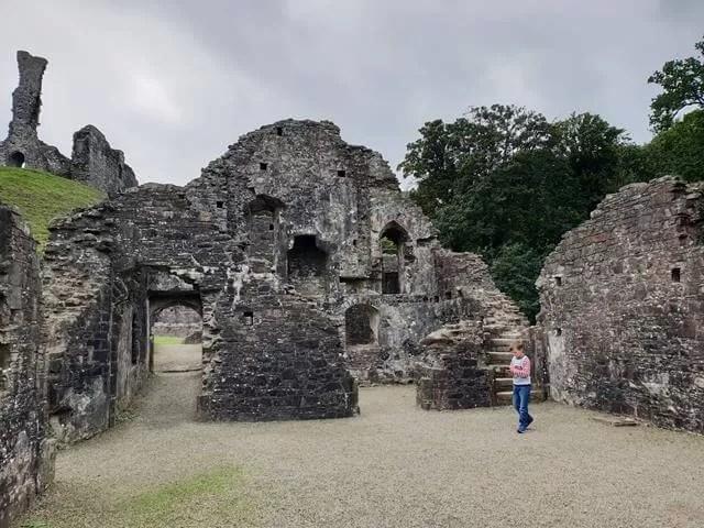 courtyard okehampton castle