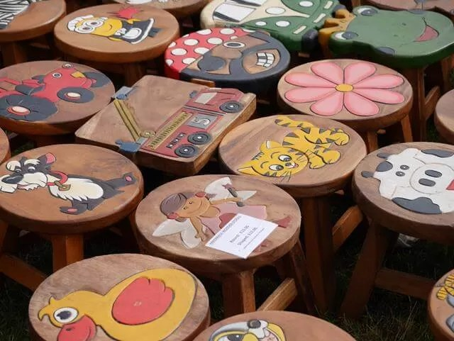 decorated stools for sale