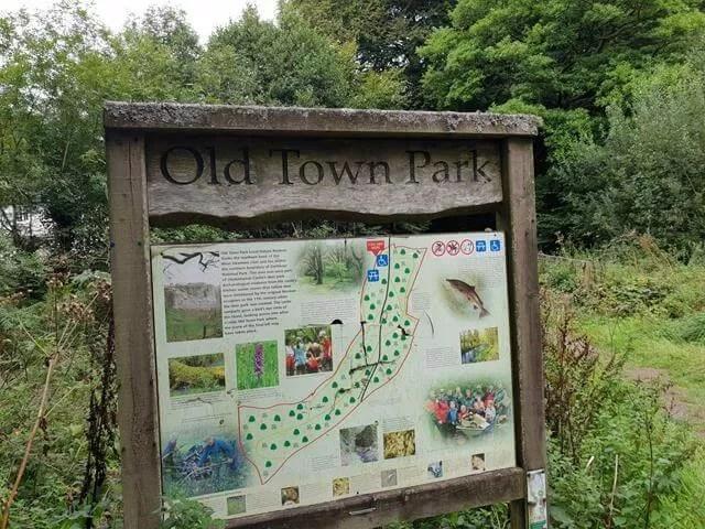 hill town walk sign